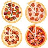 Pizza, ingredientes da pizza imagens de stock