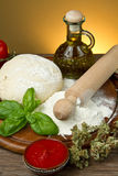 Pizza ingredients Royalty Free Stock Photos