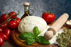 Pizza ingredients Stock Image