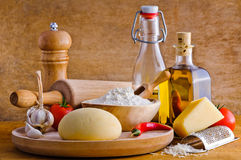 Pizza ingredients royalty free stock photo