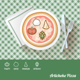 Pizza with ingredients Royalty Free Stock Photos