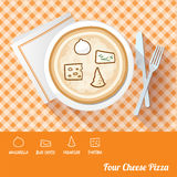 Pizza with ingredients Royalty Free Stock Photo