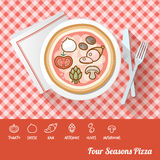 Pizza with ingredients Royalty Free Stock Photography