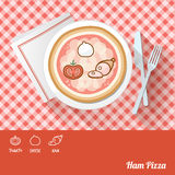 Pizza with ingredients Stock Image