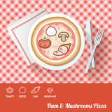 Pizza with ingredients Royalty Free Stock Image