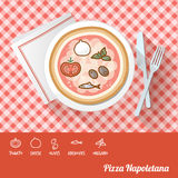 Pizza with ingredients Royalty Free Stock Images