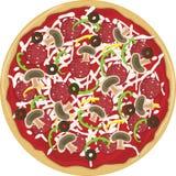 Pizza intera Fotografia Stock Libera da Diritti