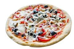 Pizza isolada Fotografia de Stock Royalty Free