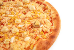 Pizza isolada Imagens de Stock Royalty Free