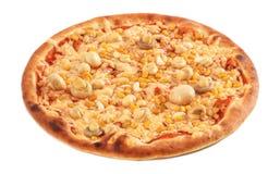 Pizza isolada Foto de Stock