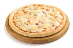 Pizza isolada no branco Imagem de Stock