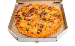 Pizza isolata Fotografia Stock Libera da Diritti