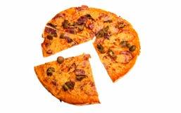 Pizza isolata Immagini Stock Libere da Diritti