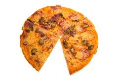 Pizza isolata Immagini Stock