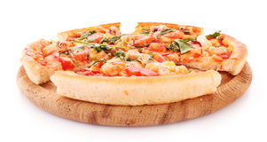 Pizza isolated Stock Photography