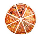 Pizza.isolated Stock Image