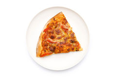 Pizza isolated on the white Stock Images