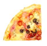 pizza isolated on white background Stock Image