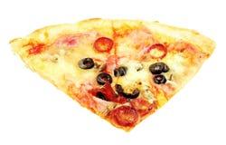 Pizza isolated on white background Stock Photo