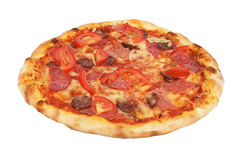 Pizza isolated on white background Royalty Free Stock Photography