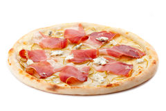 Pizza. Isolated on white background Royalty Free Stock Photography