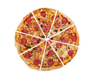Pizza. Isolated on the white background Royalty Free Stock Photography
