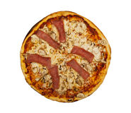 Pizza. Isolated on the white background Royalty Free Stock Images
