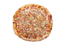 Pizza. Isolated on the white background Royalty Free Stock Photos