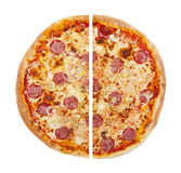 Pizza. Isolated on the white background Stock Images