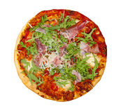 Pizza. Isolated on the white background Royalty Free Stock Image