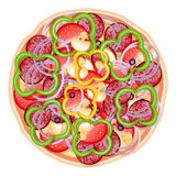 The pizza isolated Stock Images