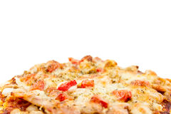 Pizza isolated on white background. Pizza, Italian cuisine, on plate isolated on white background Stock Images