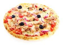 Pizza isolated on white background Stock Photos
