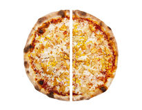 Pizza isolated on the white background Stock Photography