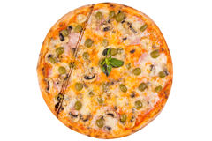 Pizza isolated on white Royalty Free Stock Images