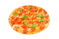 Pizza isolated on white Royalty Free Stock Photography