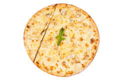 Pizza isolated on white Stock Photography