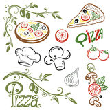 Pizza, Italiaans voedsel Royalty-vrije Stock Afbeeldingen