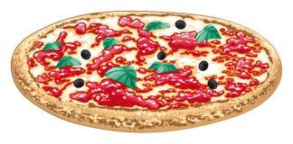 Pizza, Italiaans voedsel Stock Fotografie