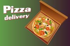 Pizza italian background Royalty Free Stock Image