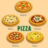 Pizza. Italian cuisine menu card Royalty Free Stock Image