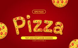 Free Pizza Italian Food Delicious Fastfood Editable Text Effect. Eps Vector File Royalty Free Stock Images - 217848839