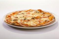 Pizza. Italian pizza isolated on white background stock photos