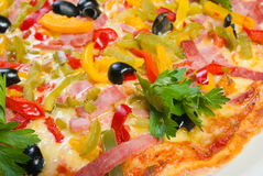 Pizza and italian kitchen Stock Image