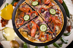 Pizza and italian kitchen Royalty Free Stock Image