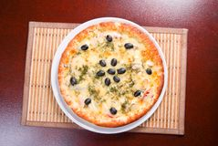 Pizza and italian kitchen. ,Close-up Royalty Free Stock Photos