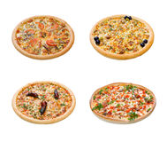 Pizza and italian kitchen. Studio. Isolated Stock Photography