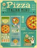 Pizza Italian Menu Stock Photography