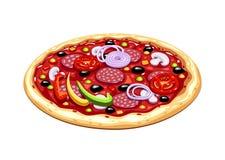Pizza. Italian traditional food. Royalty Free Stock Photo