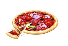 Pizza. Italian traditional food. Stock Image